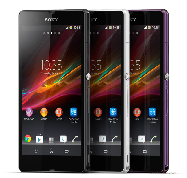 Sony Xperia Z Colors