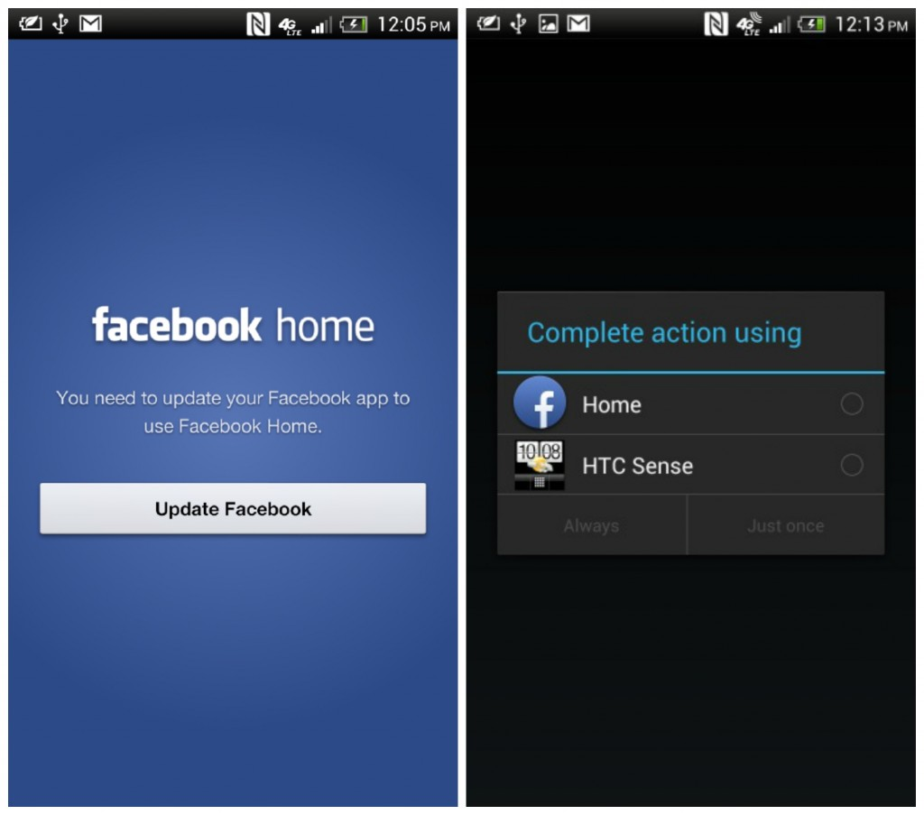 FaceBook Home Features