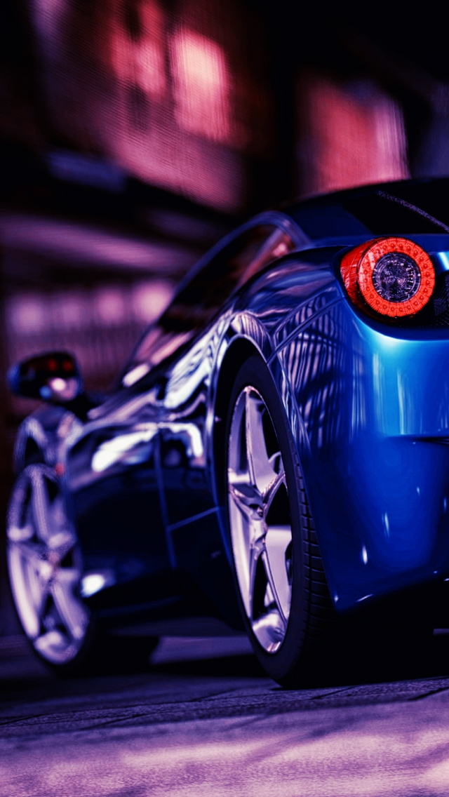 hd sports cars wallpapers for iphone 5 ferrari 458 rear