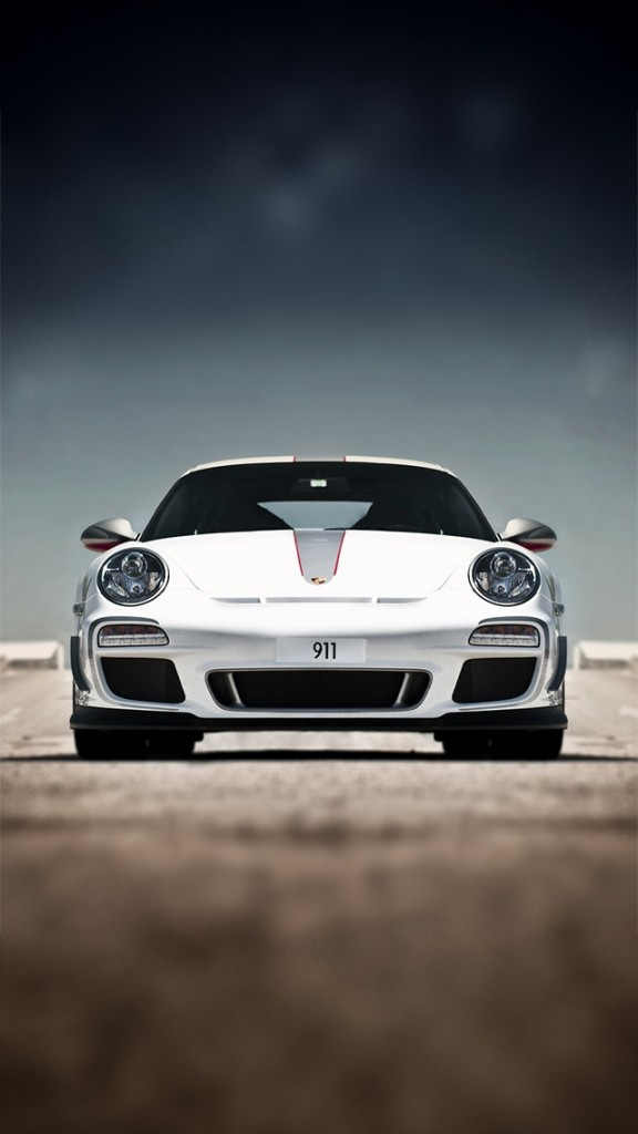 HD Sports cars Wallpapers for iPhone 5 - White Porsche 911