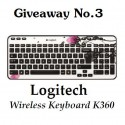 Logitech Wireless keyboard K360 Giveaway