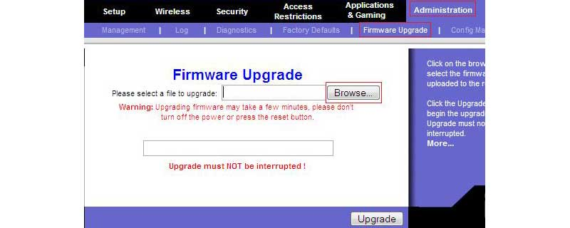 upgrading firmware to increase wireless performance
