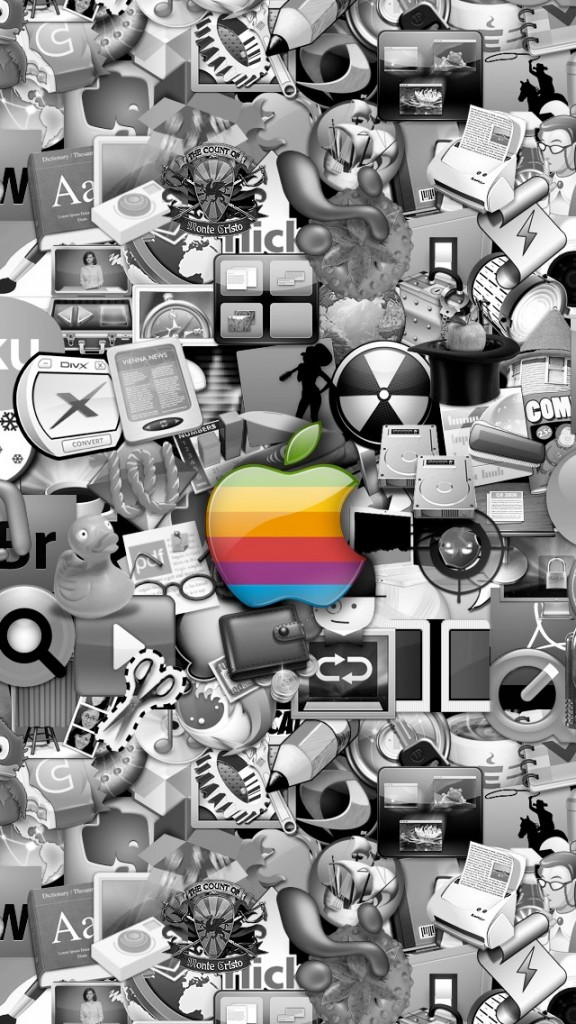 HD Abstract iPhone 5 Wallpaper- apple logo in traffic