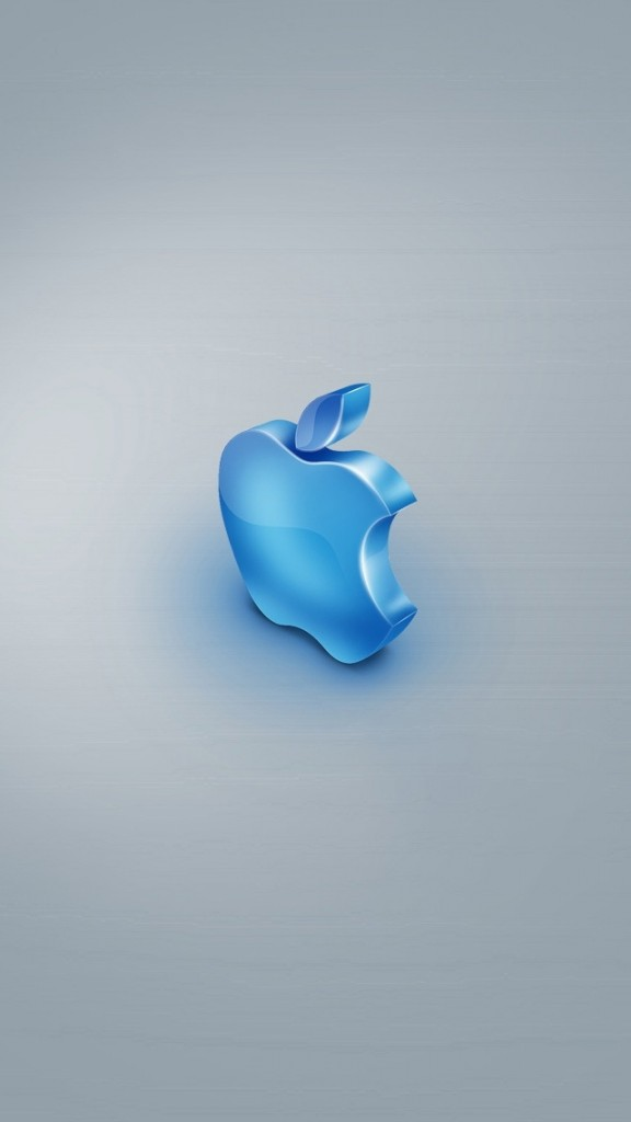 HD Abstract iPhone 5 Wallpaper Blue Apple