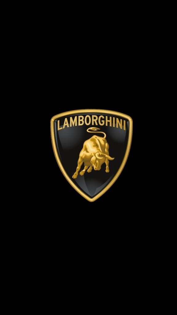 HD Sports cars Wallpapers for iPhone 5 - Lamborghini logo