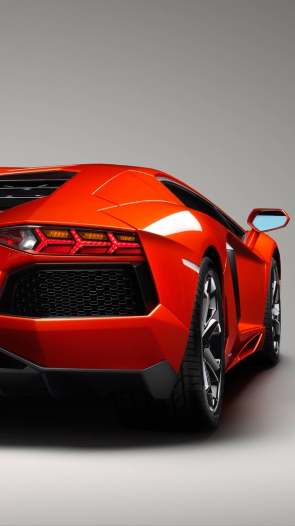 cars wallpapers for iPhone 5 - Rear Aventador