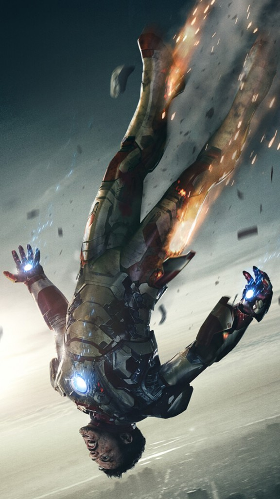 Iron Man 3 HD Wallpapers  for iPhone 5 Free Download -Iron man Falling Down