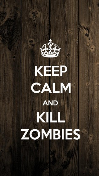Keep calm and kill Zombies -- HD Keep calm Wallpapers for iPhone 5