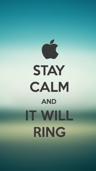 Stay calm and it will ring - HD Keep calm Wallpapers for iPhone 5