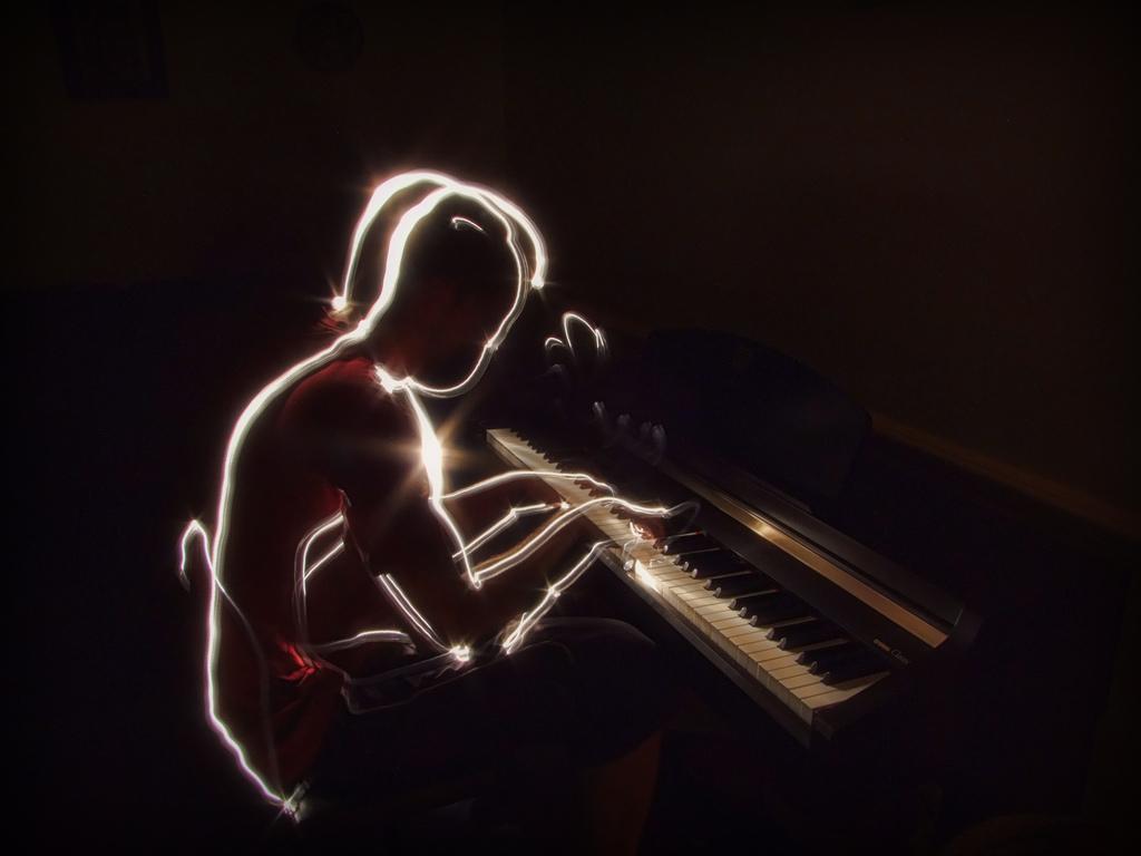 Piano master - Light Painting