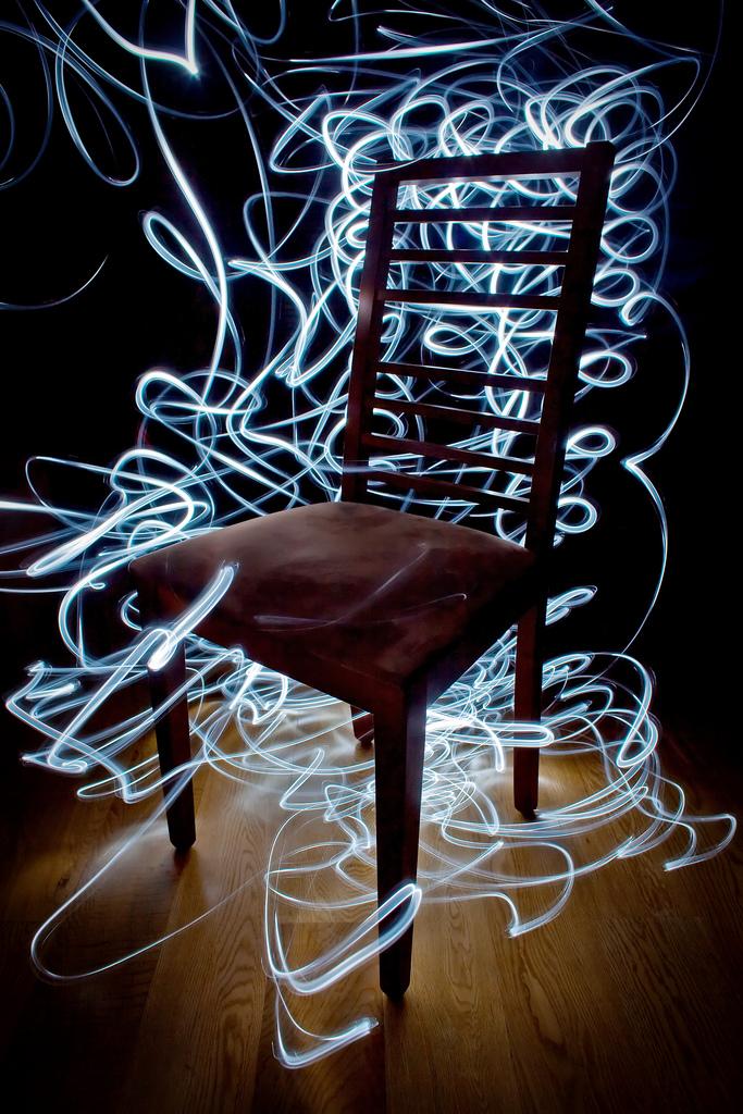 Chair - Light painting Art