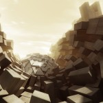 Awesome Art with White 3D Squares - Cool Wallpapers for desktop Background