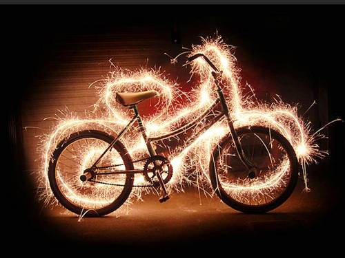 Bicycle - Light Painting Photography