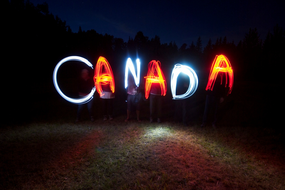 Canada- Light Painting Photography