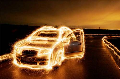 Car -  Light Painting Photography