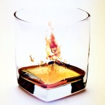 Fire in The Glass Wallpaper for Desktop Background