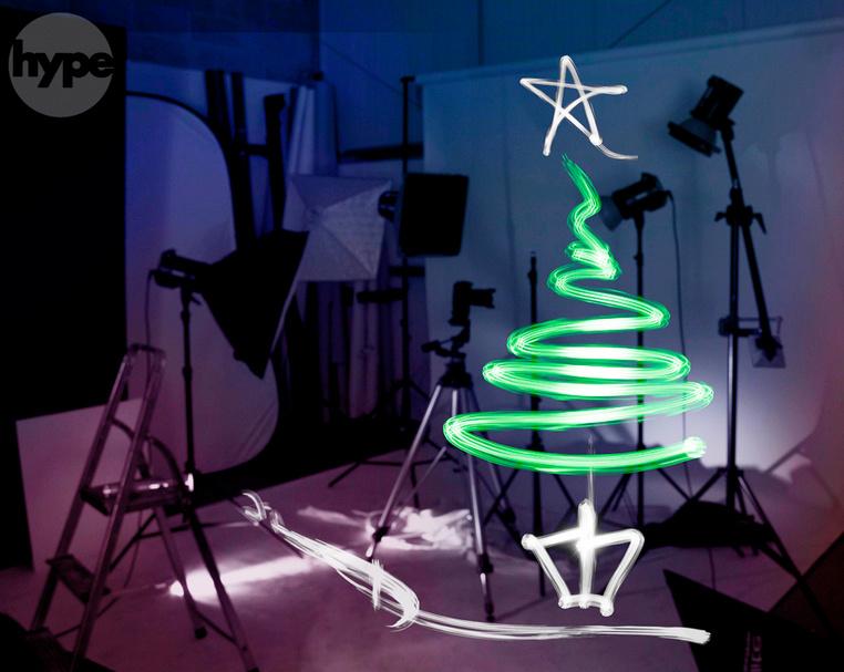 Light Painting Photography christmis tree