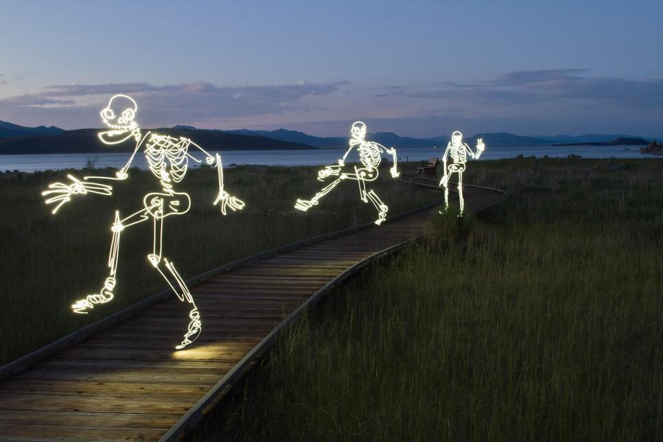Light Painting Photography - skeliton guys  (6)
