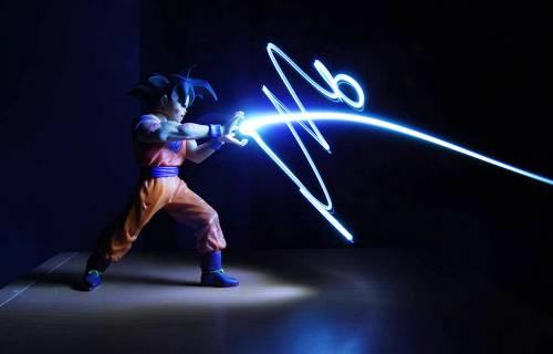 Light Painting Photography - Goku Attack