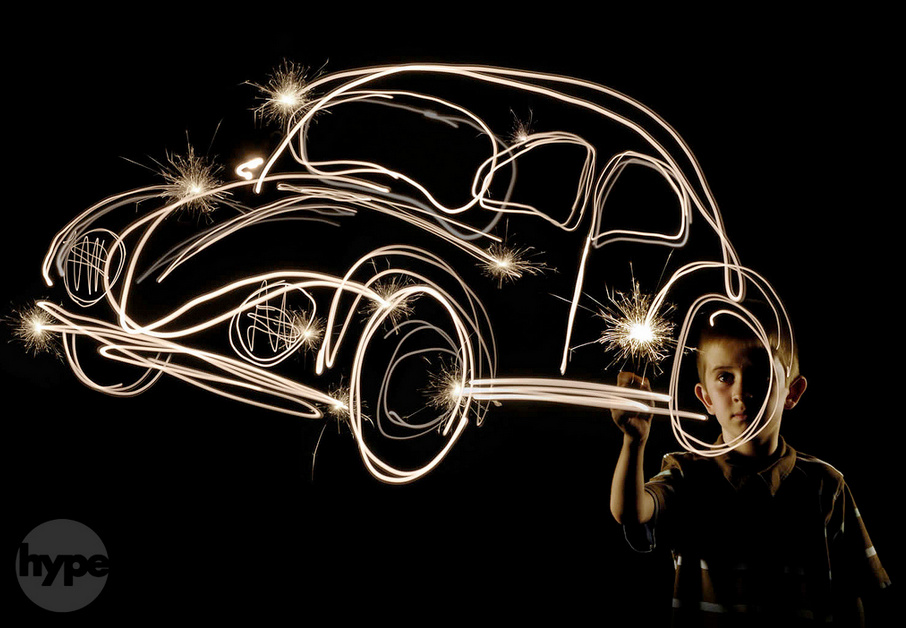 a childs dream- Light Painting Photography