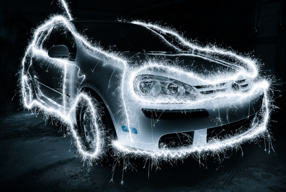 car by torch - Light Painting Photography