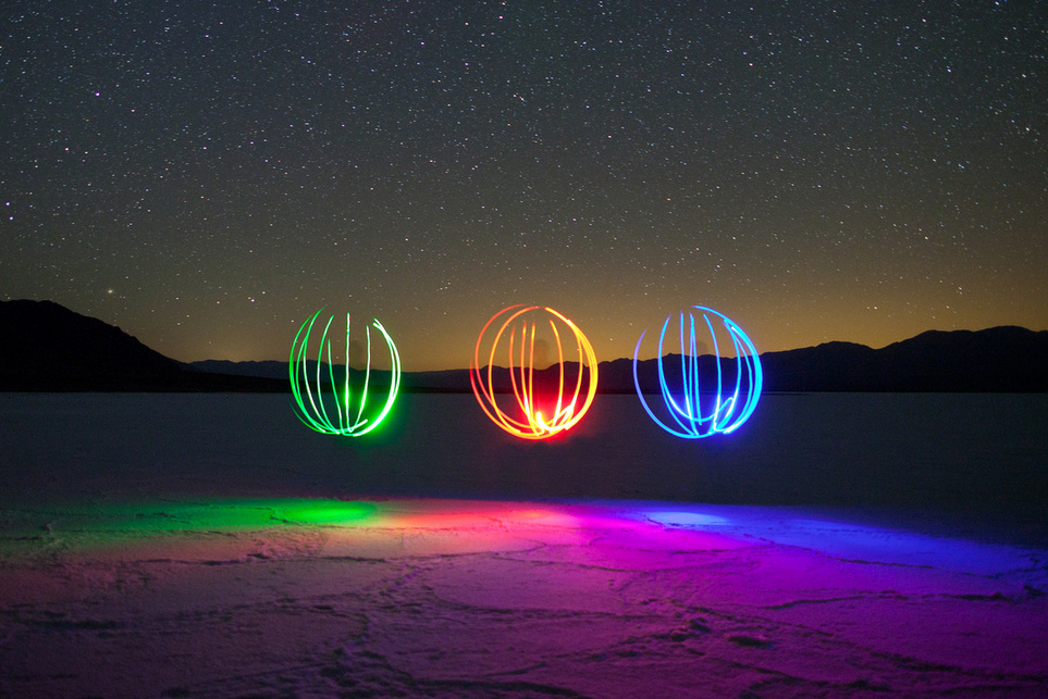 colorful Light Painting Photography