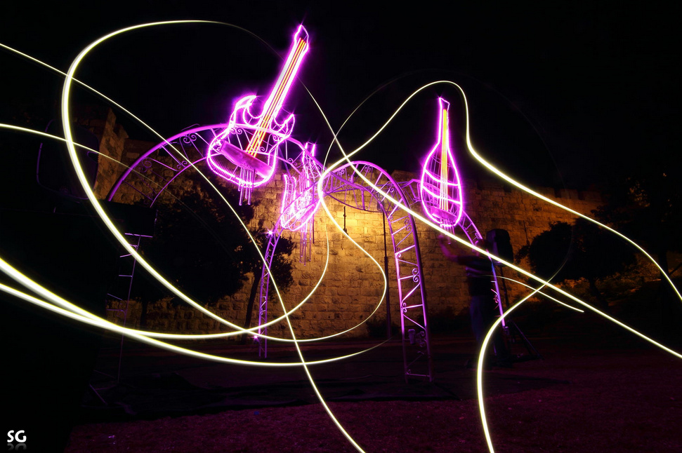 music - Light Painting Photography
