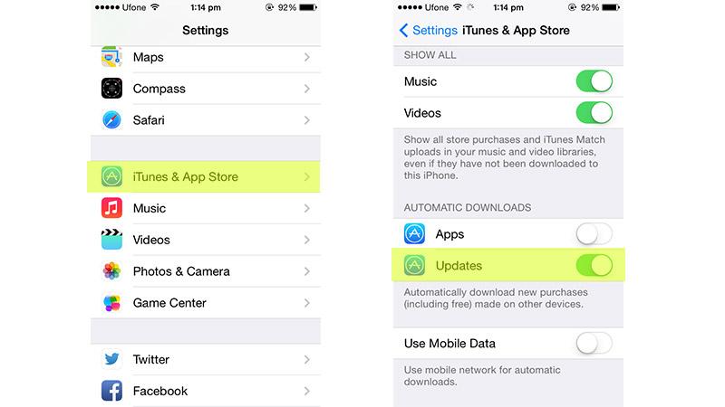 Enable Auto App Updates