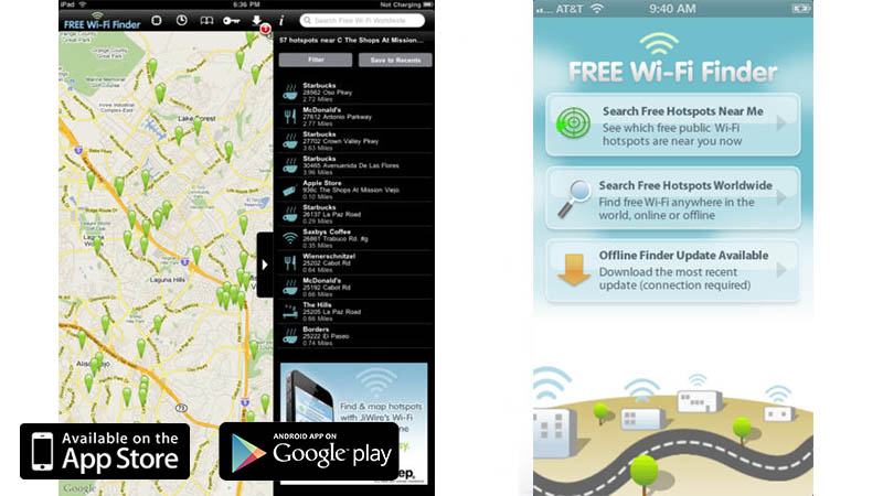 Free Wifi Finder - Great Travel Apps