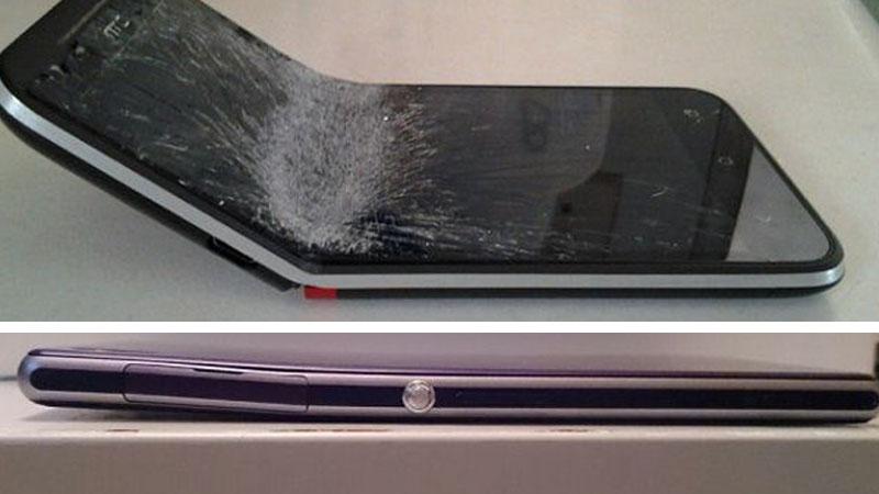 HTC Blackberry Bent Phones