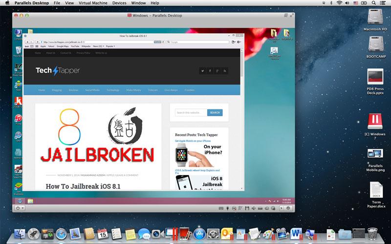 Jailbreak iOS 8.1 on Mac with PanGu