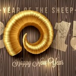 Year of the Sheep - happy new year wallpaper