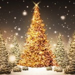 golden tree - hd christmas wallpapers