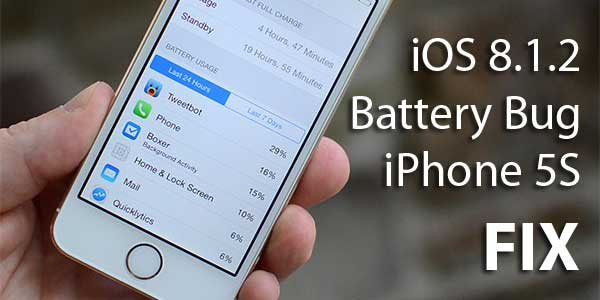 iOS 8.1.2 Battery Bug Fix