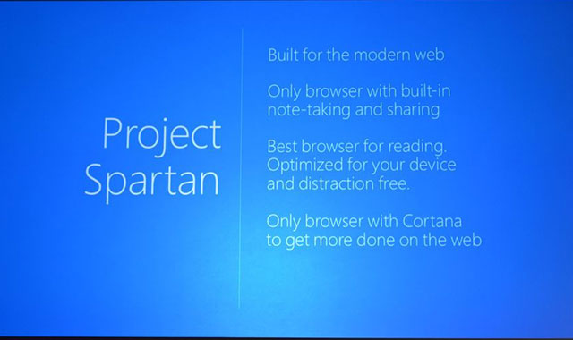 Project Spartan by Microsoft officially announced